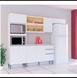 Armário para cozinha completo todo branco lindo armario branco