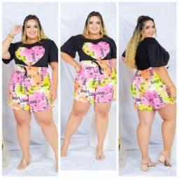 Shorts Plus Size Femininos