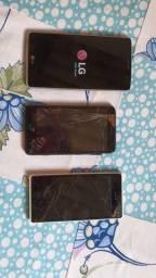 Vendo lote 3 celulares com defeito para retirar peças