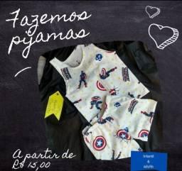 Pijamas em algodão infantil