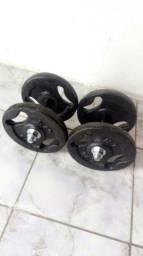 Par de halteres com 10/10 kg