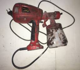 Pistola de Pintura Schulz pulverizadora elétrica p/ tinta base solvente ou água verniz etc