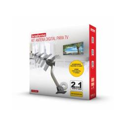 Antena Externa Digital 2 Em 1 Shd-8000k Sinal kit completo