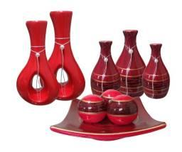 Kit peças em cerâmica para decoração melhor preço aproveite!