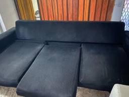 Vendo sofá retrátil perto em perfeito estado $650 3mt