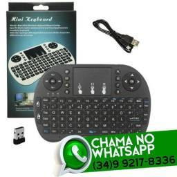 Entrega Grátis * Mini Teclado sem fio Bluetooth Tv box Smart Tv * Chame no Whats