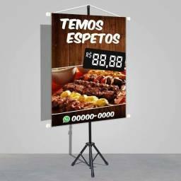 Banner Promocional 60x80cm por 38,00