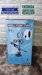 Kit Live suporte para celular microfone e ring night