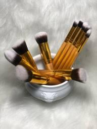 Kit 10 pincéis maquiagem