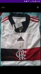 Camisa branca do Flamengo primeira linha