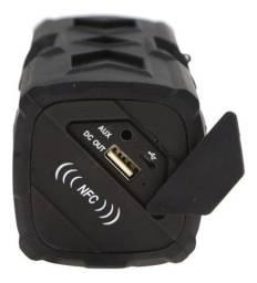 Caixa de Som Bluetooth 5W Design Emborrachado Hoopson - RB001-P - Nova na Caixa