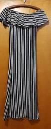 Vestido de manga que mostra os ombros