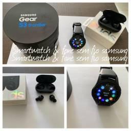 Smartwatch e fone sem fio Samsung