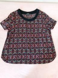 Camisa estampada tamanho 36