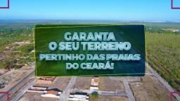 Parcelas a partir de cento e sessenta e nove Sua moradia no litoral do Ceará