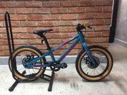Bicicleta Infantil Sense Alumínio Grom 16 2021 - Aqua Azul/Rosa