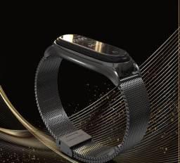 Belas pulseiras em aço para mi band 4 e 3. mijobs