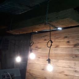 Luminária de teto em dormente