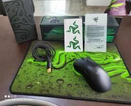 Mouse Razer Deathadder + mousepad razer
