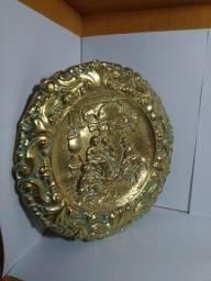 Quadro decorativo em bronze