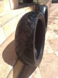 Pneus Pirelli 140/70/17 e 110/70/17 Novos