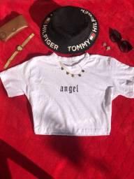 Camisa Cropped G Branca - Desapego Nova Nunca usada