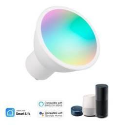 Lâmpada LED 5W Dimerizável Inteligente Colorida Wifi  - Google Assistente e Alexa