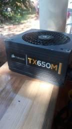 Fonte corsair tx650m queimada.