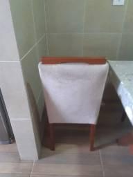 Cadeira em tecido suede cinza