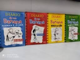 Livros diário de um banana 1,2,3 e 4