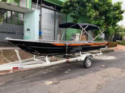 Canoa, voadeira e bote com borda alta e corrimão grátis ! A pronta entrega