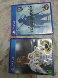 Tomber Raider e FIFA 18; Apenas Venda.
