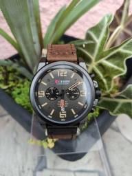 Relógio CURREN (C/ Cronógrafo) Marrom Escuro