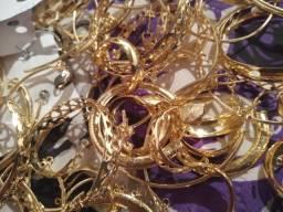 Vendo semi jóias foliada a ouro 18k