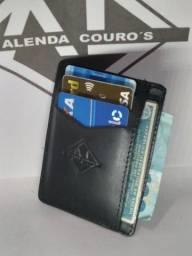 Porta Cartões Unissex em Couro Legítimo