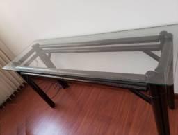 Aparador com tampo de vidro temperado - frete grátis para Região de Campinas