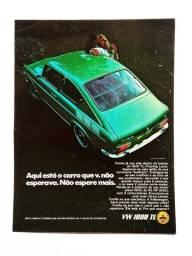 VW 1600 TL, Variant e Fusca anos 60 e 70 - Propagandas Antigas, Publicidade
