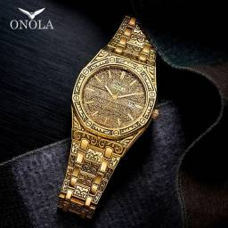 Relógios Esculpidos Clássicos Onola Aceito Cartão!
