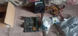 Kit i3 7100, 8 gigas de ram, placa mãe h110m e fonte aerocool 500w