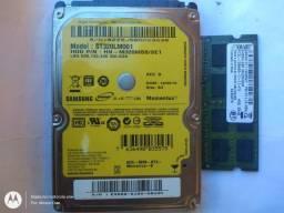 HD320g e memória ram 4g