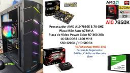 PC Gamer A10 7850K 16GB R7 360 2Gb + Kit Gamer !!!