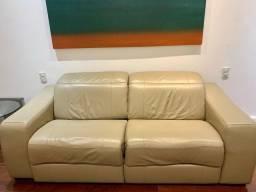 Sofá de couro eletrico reclinável - com parcelamento