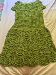 Vestido de crochê