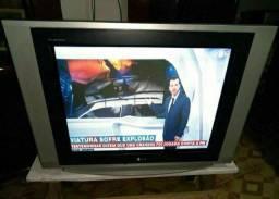 TV de Tubo LG tela plana + Conversor digital Aquário