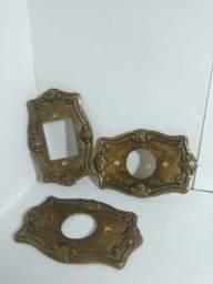 Espelho de tomada em bronze