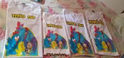 KIT Camisetas temáticas Personalizadas R$60,00