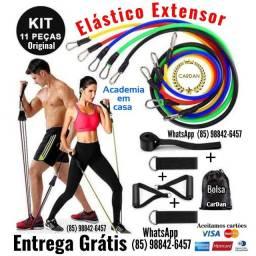 Título do anúncio: Kit 11 Peças Elástico Extensor para Musculação Entrega Grátis