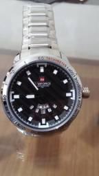 799f69db78e27 Relógio Masculino Naviforce Prata - Aço Inoxidável À Prova D água
