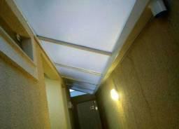 Cobertura em policarbonato e sistema multi telhas