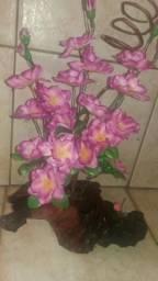 Flores em tocos naturais de árvores seca